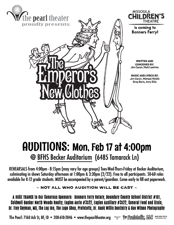 "Missoula Children's Theater ""The Emperor's New Clothes"" AUDITIONS"