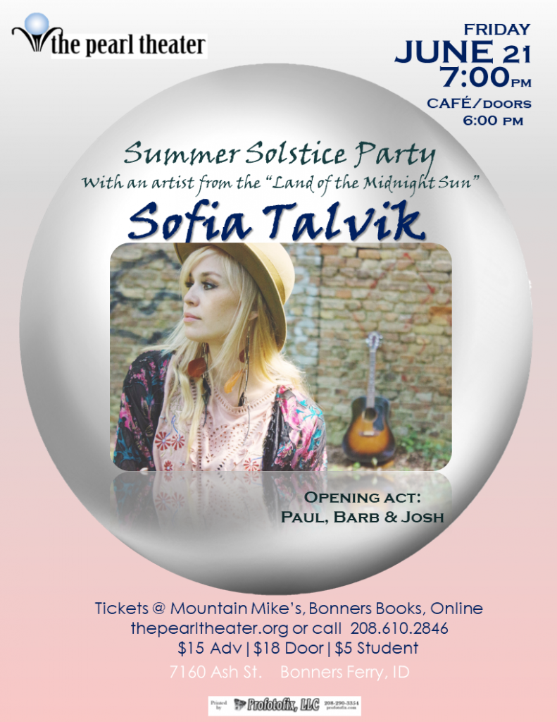 The Pearl Presents - Sofia Talvik