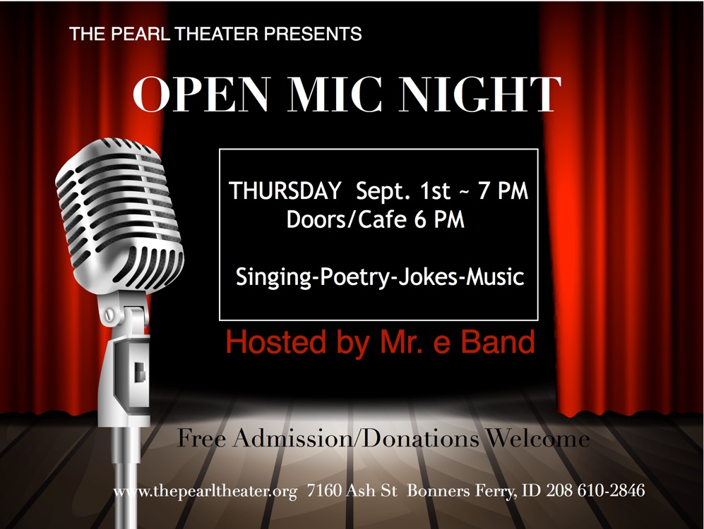 Open Mic Night — Thursday Sept. 1, 2016