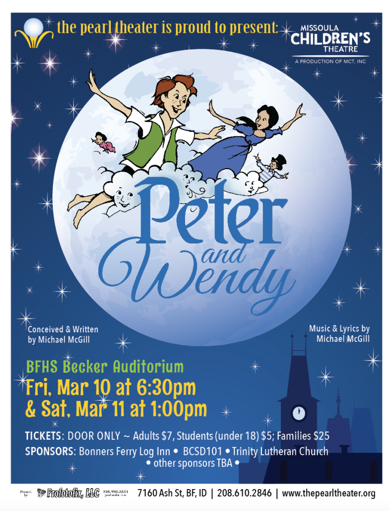 Missoula Children's Theater Peter and Wendy performance at Becker Auditorium